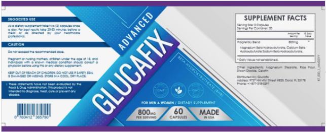 Advanced GlucaFix Ingredients