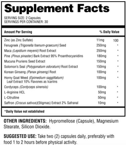 Niagara XL Ingredients
